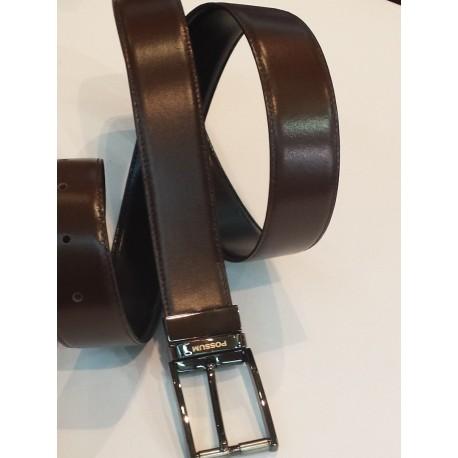 Cinturón piel señor reversible negro y marron